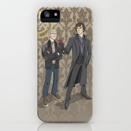 Sherlock and John iPhone Case