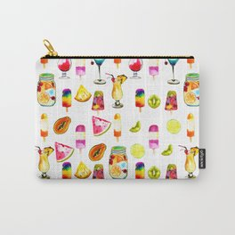 Watercolor Summer Fresh Fruits Cocktails Ice-cream Carry-All Pouch
