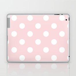 Polka Dots - White on Light Pink Laptop & iPad Skin