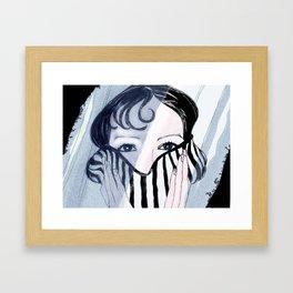 Behind the Veil Framed Art Print