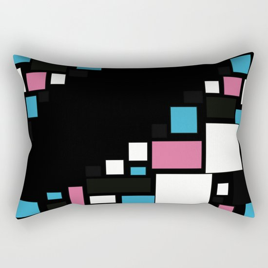 Colorful combined pattern . Rectangular Pillow