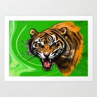 Tiger_014 Art Print