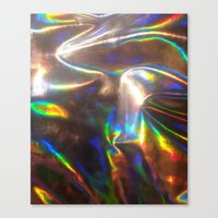 holographic Canvas Prints featuring Holographic by viviennart