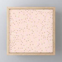 Pink Confetti Framed Mini Art Print