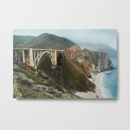 Bixby Bridge | Big Sur California Highway Ocean Coastal Travel Photography Metal Print