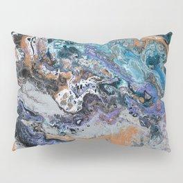 Molten Time (flow art on canvas) Pillow Sham