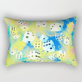 Abstract Dice Digital Art Rectangular Pillow