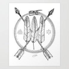 Ouroboros Logos Art Print