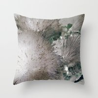 furry Throw Pillows featuring Furry Crystal  by Rem N