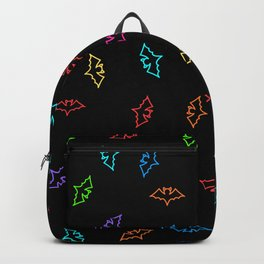 Colorful Bats Halloween Pattern Backpack