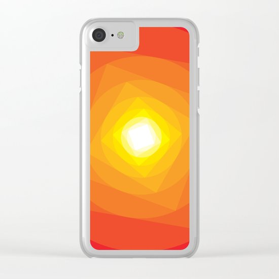 Gradient Sun Clear iPhone Case