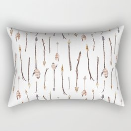 Boho Arrows with Feathers Pattern Rectangular Pillow