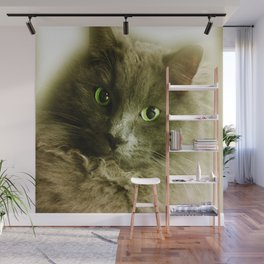 Wake up! Time to feed the Cat! Wall Mural