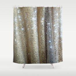 Champagne Glitters Shower Curtain
