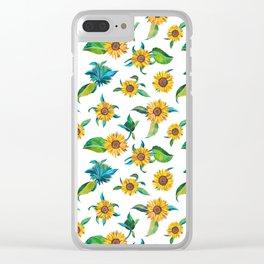 Sunflowers pattern Clear iPhone Case