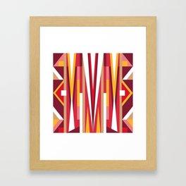 Circus Geometric Print Framed Art Print