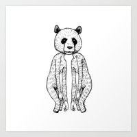 pandas Art Prints featuring Pandas by Benson Koo
