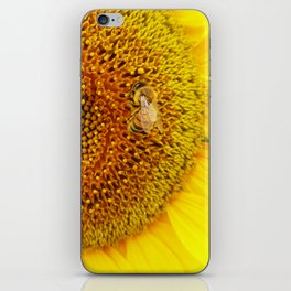 Bee on a Sunflower iPhone Skin