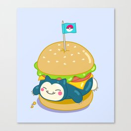 Snorlax Burger Canvas Print