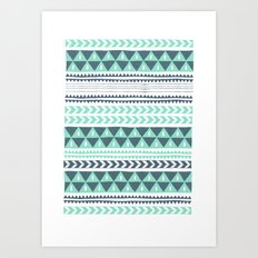 Winter Stripe Art Print