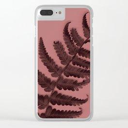 Fern on marsala Clear iPhone Case