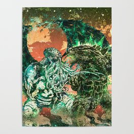 Cthulhu vs Godzilla Poster