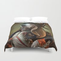napoleon Duvet Covers featuring Napoleon Boneaparte by Christina Hess