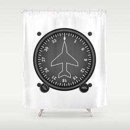 Directional Gyro Flight Instruments Shower Curtain