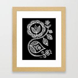 White Flower 15 Framed Art Print