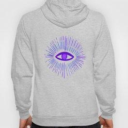 All Seeing Eye in Violet Purple Watercolor Hoody