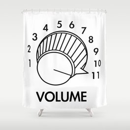 Volume Knob Up To 11 Spinal Tap Inspired Funny Guitar Shower Curtain