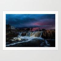 Falls before the storm Art Print
