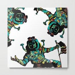 Spacemen Graffiti Metal Print