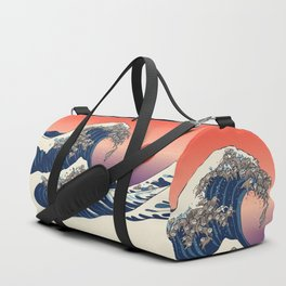 The Great Wave of Sloth Duffle Bag