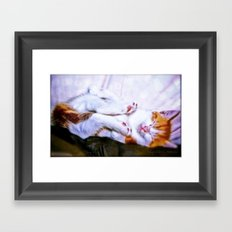There are a thousand and one way to take a nap Framed Art Print