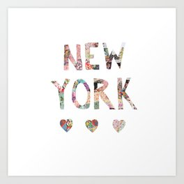 New York love Art Print