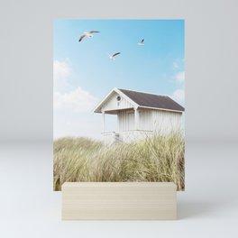 Beach Hut Mini Art Print