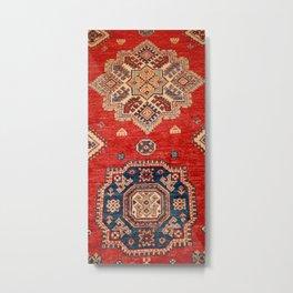 Natural Dyed Handmade Anatolian Carpet Metal Print