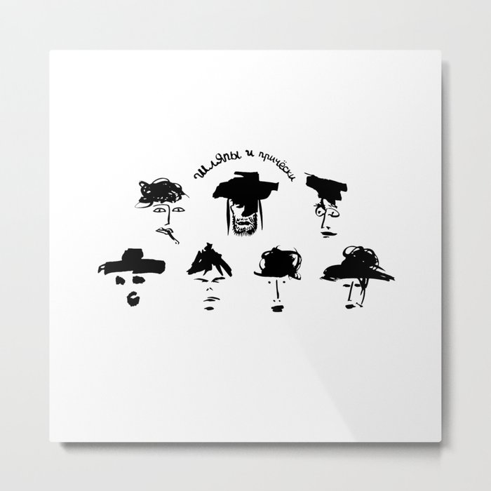 hats and hairstyles Metal Print
