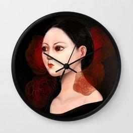 She likes to be alone Wall Clock