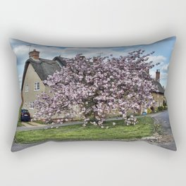Ashby St Ledgers thatched cottages Rectangular Pillow
