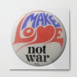 Make Love Not War Hippie Trippy 60s Peace Art Metal Print