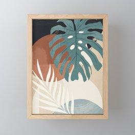 Abstract Art Tropical Leaves  Framed Mini Art Print