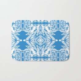 Blue and White Classy Psychedelic Bath Mat