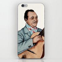 django iPhone & iPod Skins featuring Django Reinhardt by Daniel Cash