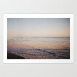 Ocean Beach Double Exposure Art Print