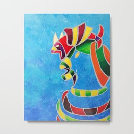 Fish hat Metal Print