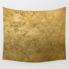 Golden texture background. Vintage gold. Wall Tapestry