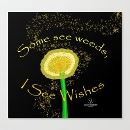 I See Wishes Canvas Print