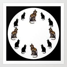 CAT TIME Art Print